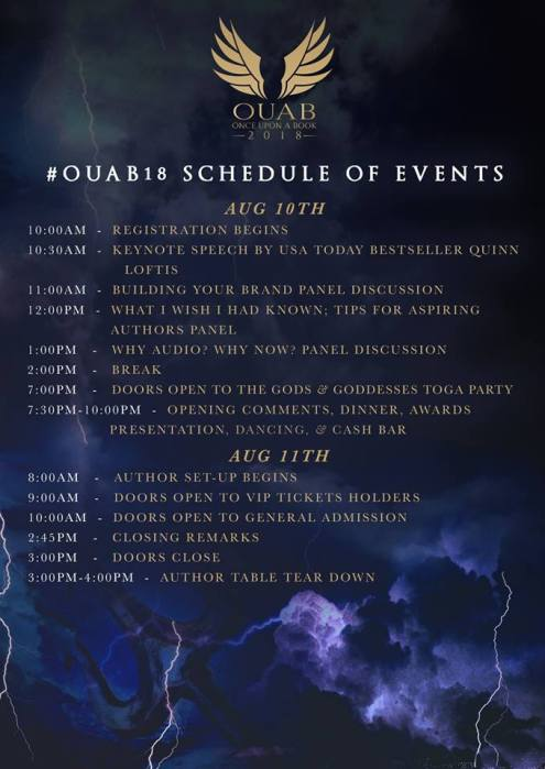 OUAB 2018 Schedule